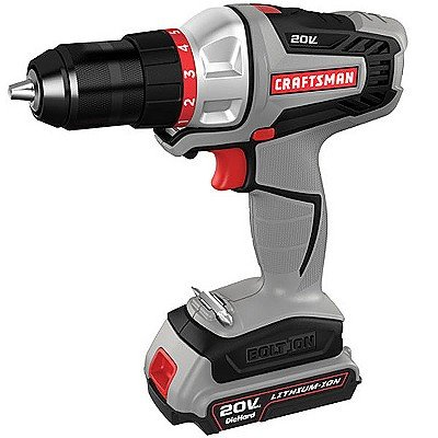 Craftsman 20 Volt Lithium Ion Cordless Drill Kit 2017 Review